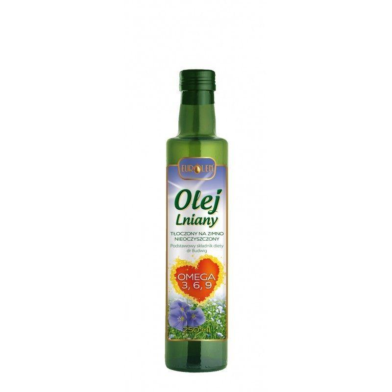 Olej lniany 250 ml - Omega 3 6 9